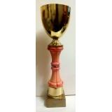 Кубок розовый с золотом